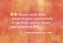 Shame needs three 