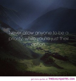 Never allow anyone to be a 