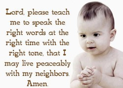 Lord, please teach 