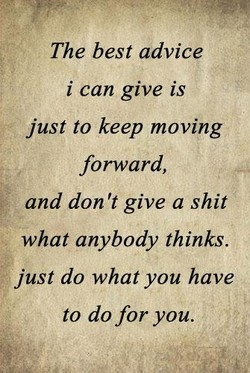 The best advice 