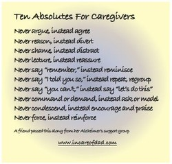 Tew Absolutes For caregivers 