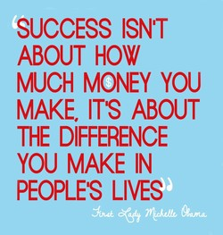 SUCCESS ISN'T 