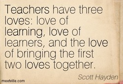 Teachers have three 