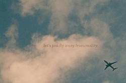 let's just fly away from reality.