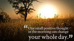 One snååll pOsitive thought 