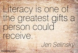 Literacy IS one of 