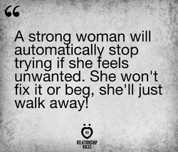 A strona woman will 