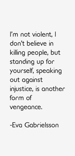 I'm not violent, I 