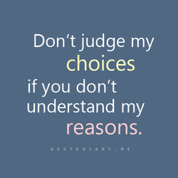 Don't judge my 