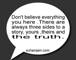 Don't believe everything 