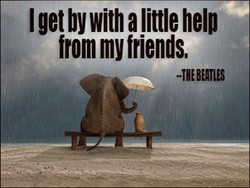 I get by with a little help 