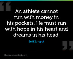 An athlete cannot 