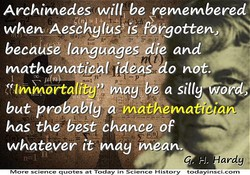 Archimedes be remembered 