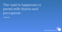 The road to happiness is 