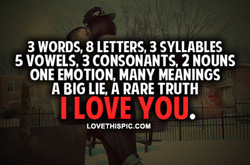 3 WORDS, 8 LETTERS, 3 SYLLABLES 