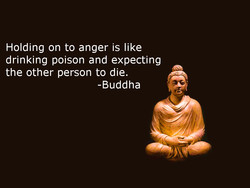 Holding on to anger is like 