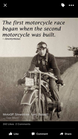 The first motorcycle race 
