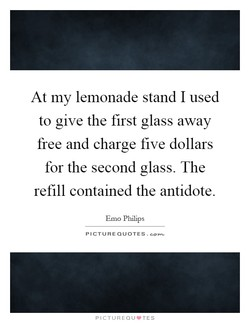 At my lemonade stand I used 