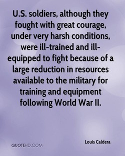U.S. soldiers, although they 