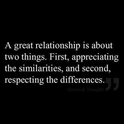 A great relationship is about 