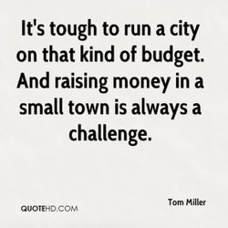 It's tough to run a city 