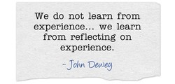 We do not learn from 
