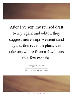 After I've sent my revised draft 