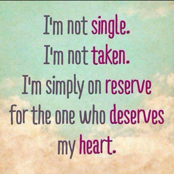 Itm not single. 