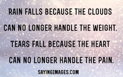 RAIN FALLS BECAUSE THE CLOUDS 