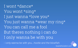 I wont *dance* 