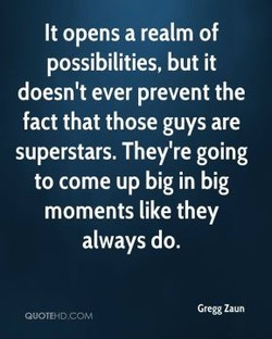 It opens a realm of 