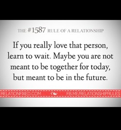 THE #1587 RULE OF A RELAVIONSHIP 
