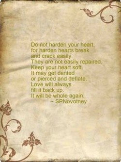 00 not harden your heart. 