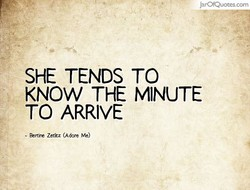 SHE TENDS TO 