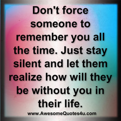 Don't force 