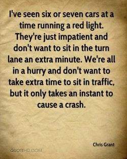 I've seen six or seven cars at a 