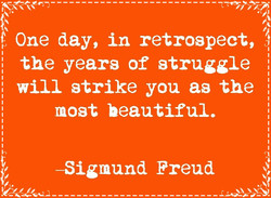 One day, in retrospect, 
