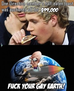 One Direction member's half-eaten toast 