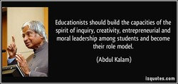 Educationists should build the capacities of the 