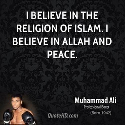 I BELIEVE IN THE 