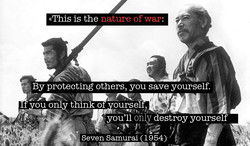 «This is the nature of war• 