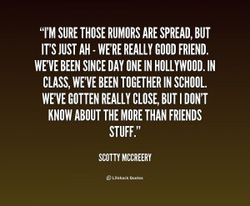 'TMSURETHOSE RUMORS ARE SPREAD, BUT 