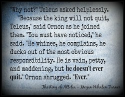 hot?'t Teleus asked helplessly, 