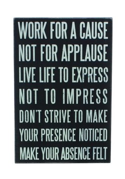 WORK FOR A CAUSE 