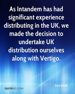 As Intandem has had 