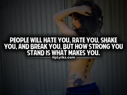 PEOPLE WILL HATE YOU, RATE YOU, SHAKE 