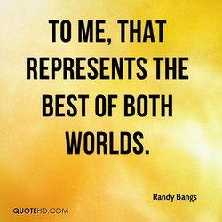 TO ME, THAT 