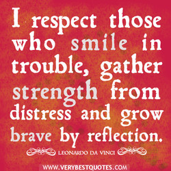 I respect those 