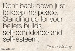Donlt back down just 