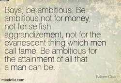 Boys, be ambltious, Be 